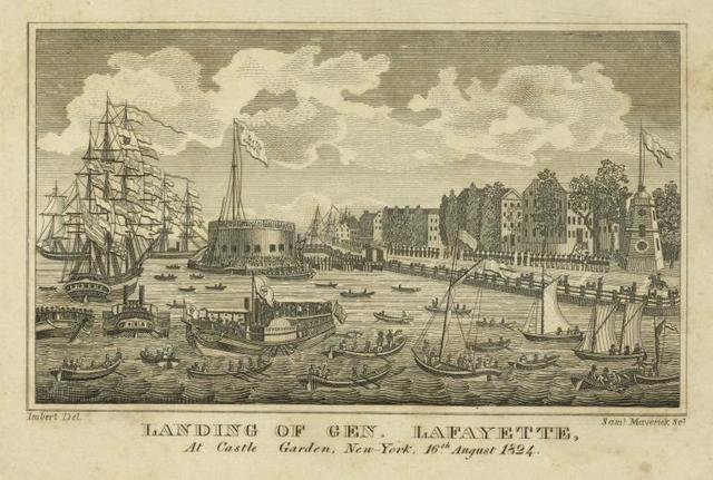 Landing of Gen. Lafayette, at Castle Garden, New-York, 16th August 1824