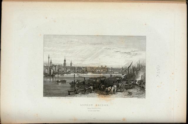 London Bridge, from Bankside, as seen in Sept.r 1826.