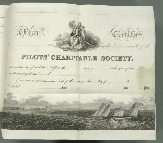 Pilot's Charitable Society [member certificate].