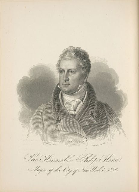 The Honorable Philip Hone, mayor of the city of New York in 1826.