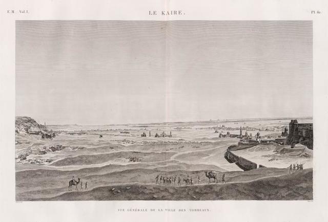 Le Kaire [Cairo]. Vue générale de la ville des tombeaux.
