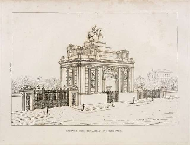 Entrance from Picadilly into Hyde Park