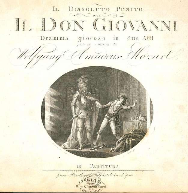 Il dissoluto punito osia Don Giovanni, Title page