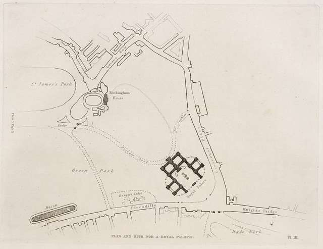 Plan and site for a royal palace