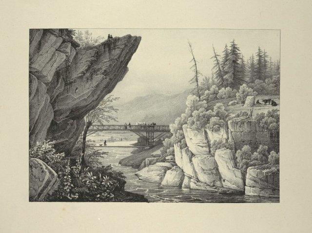 Bridge and Hudson River near Luzerne