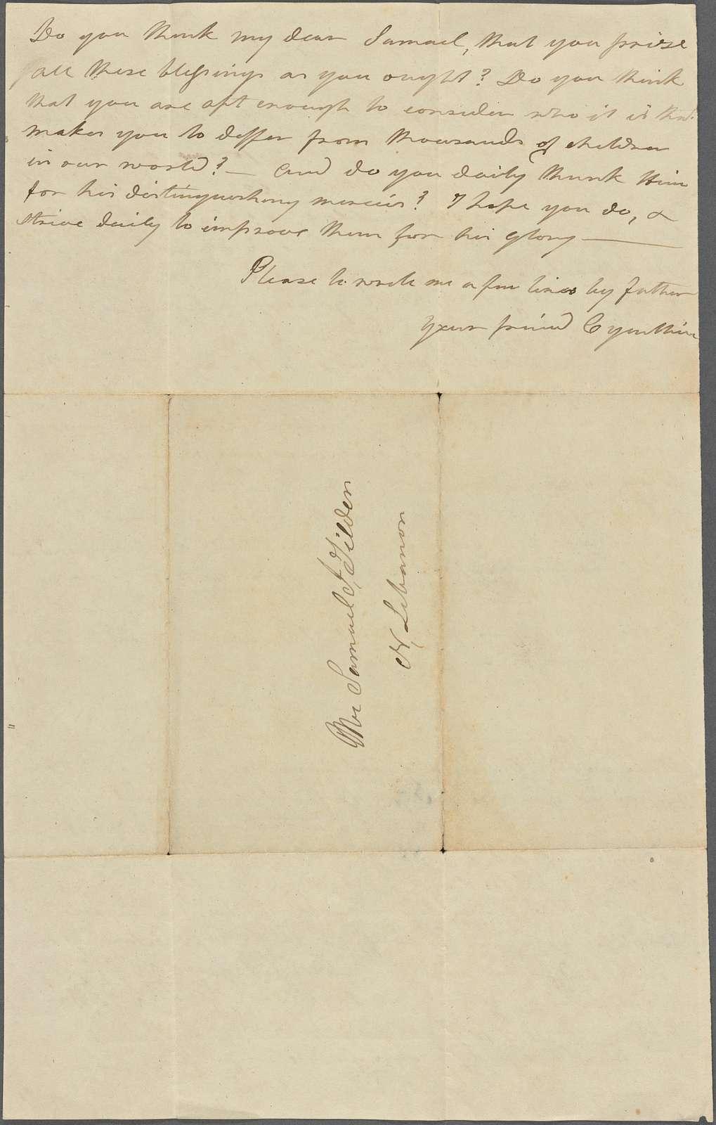 Doubleday, Cynthia, 1828, 1847