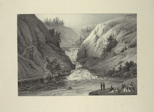 Falls of Mt. Ida above the town of Troy