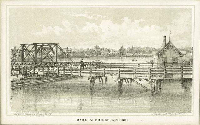 Harlem Bridge N.Y. 1861