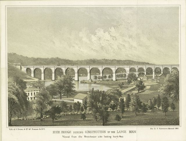 High Bridge during construction of the large main