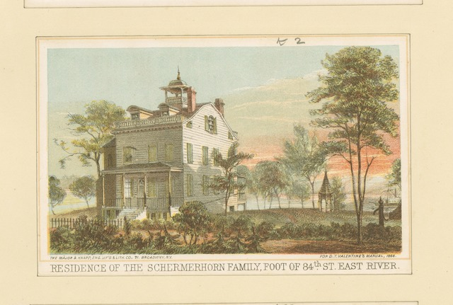 Residence of the Schermerhorn family, foot of 84th St. East River