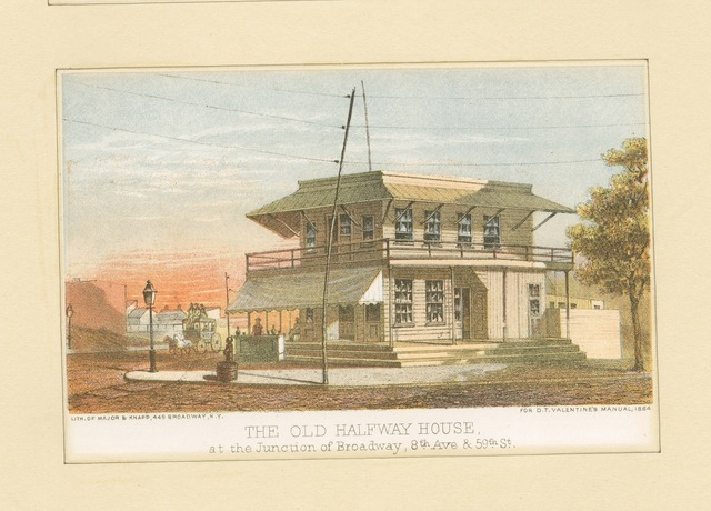 The old Halfway House at the junction of Broadway, 8th Ave. & 50th St.
