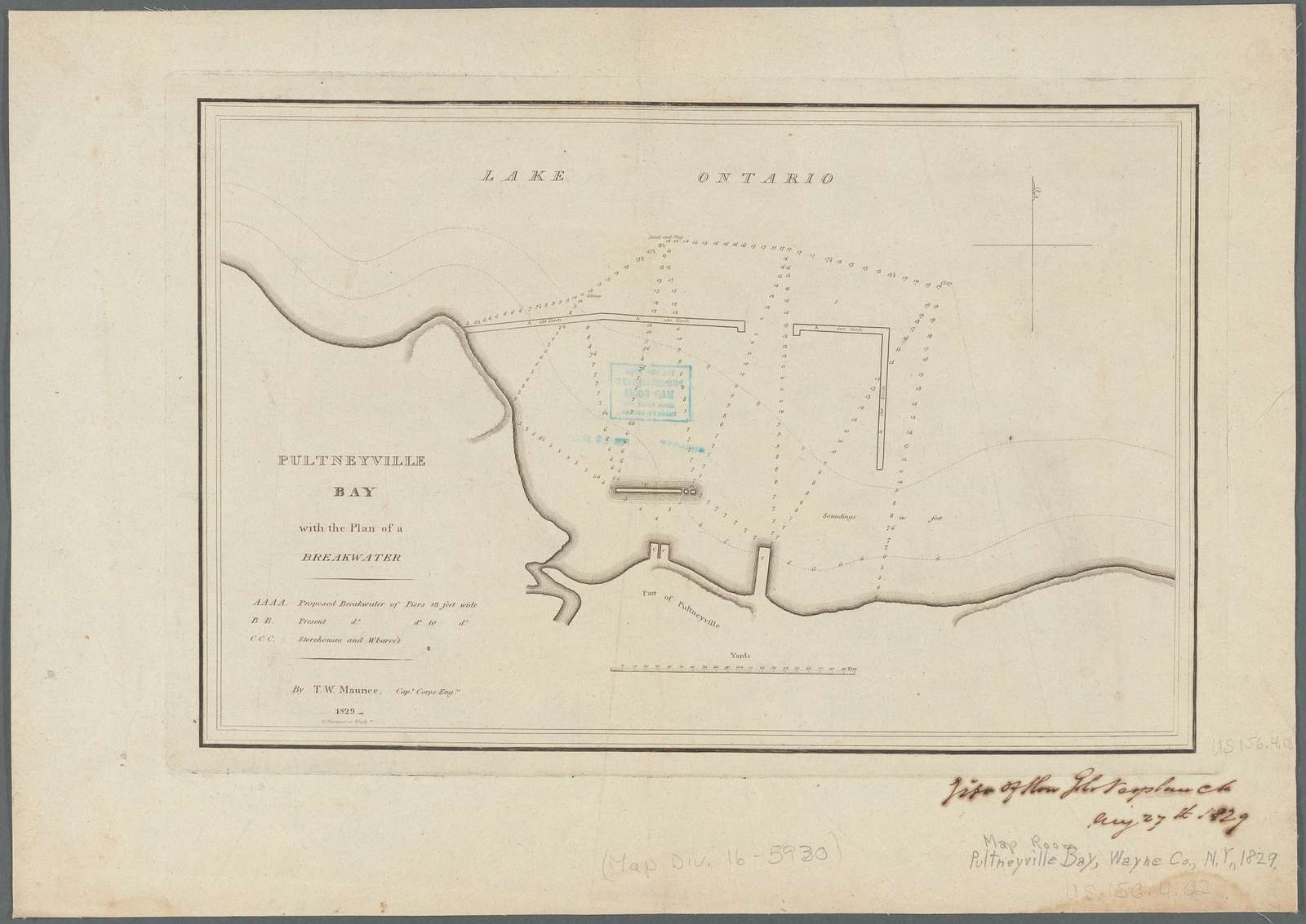Pultneyville bay: with the plan of a breakwater