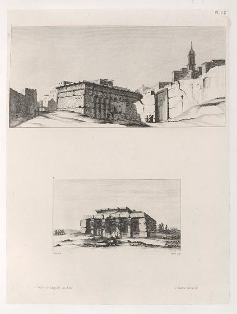 1. Temple de Latopolis ou Esnê [Isnâ ]. 2. Contra Latopolis.
