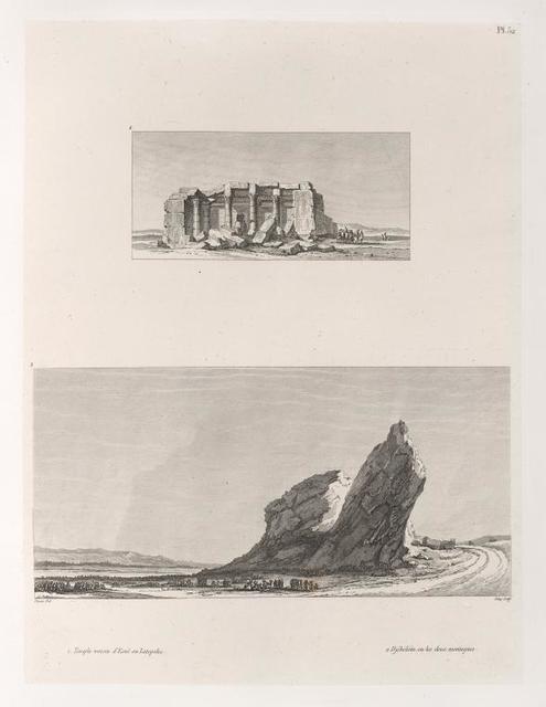 1. Temple voisin d'Esnê [Isnâ] ou Latopolis. 2. Djébéléïn, ou les deux montagnes.
