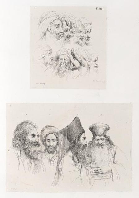 [1. Têtes d'Arabes. 2. Un moine grec; Un Juif de Jérusalem; Un primat d'Alexandrie.. ]