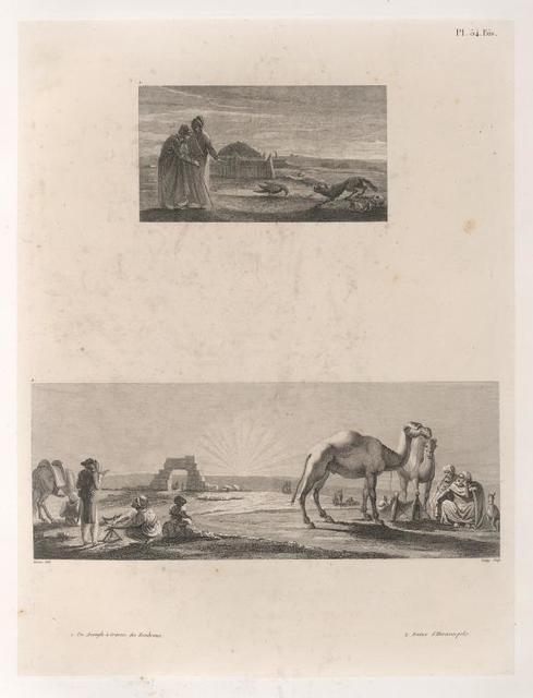 1. Un Aveugle à travers des Tombeaux. 2. Ruines d'Hieraconpolis.