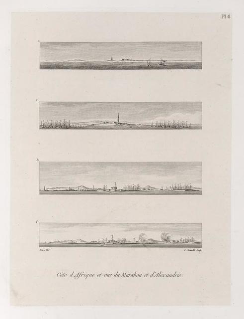 Côte d'Afrique et vue du Marabou et d'Alexandrie.