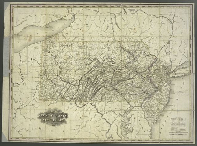 Map of Pennsylvania and New Jersey