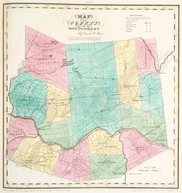 Map of the county of Montgomery