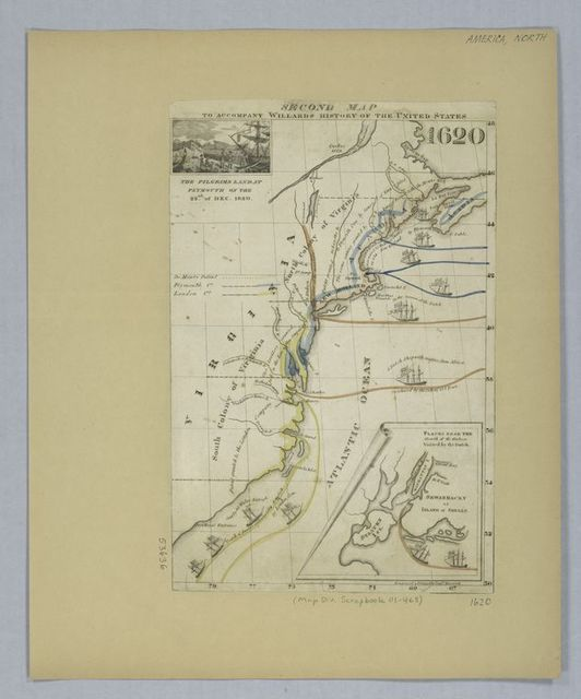 Second map to accompany Willard's History of the United States
