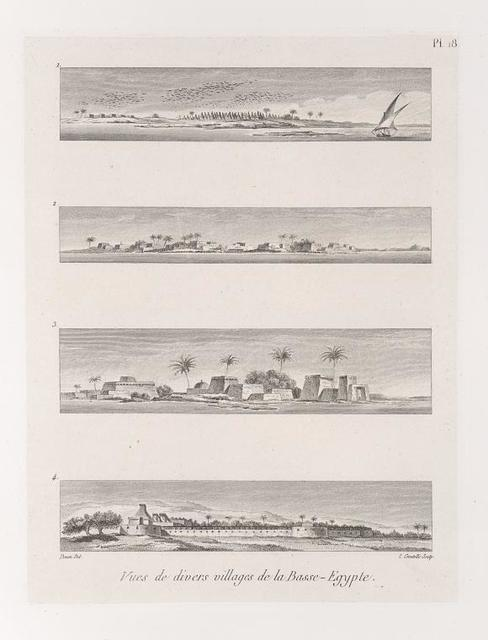 Vues de divers villages de la Basse-Egypte.