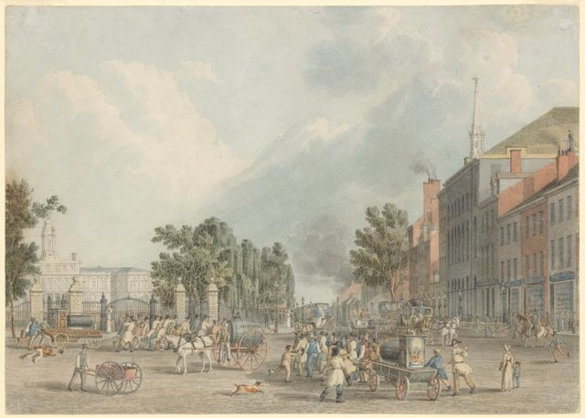 City Hall and Park Row.