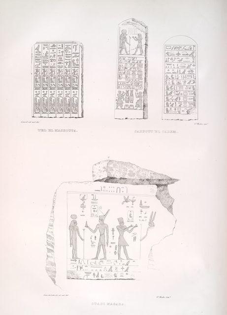 Hiéroglyphes de Tel el Masrouta, Sarbout el Cadem et Ouadi Magara