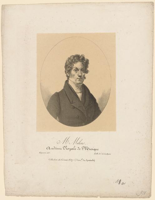 M. Milon. Académie Royale de Musique. Vigneron del. Lith. de C. de Lasteyrie.