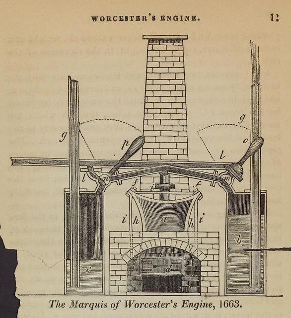 The Marquis of Worcester's engine, 1663