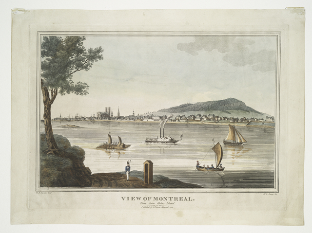 View of Montreal.  From Saint Helens Island.