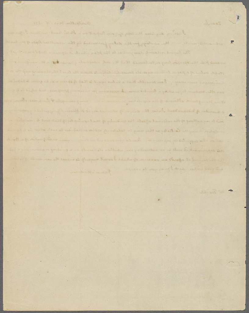 Letter to Littleton Dennis Teackle
