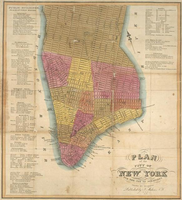 Plan of the city of New York : for the use of strangers