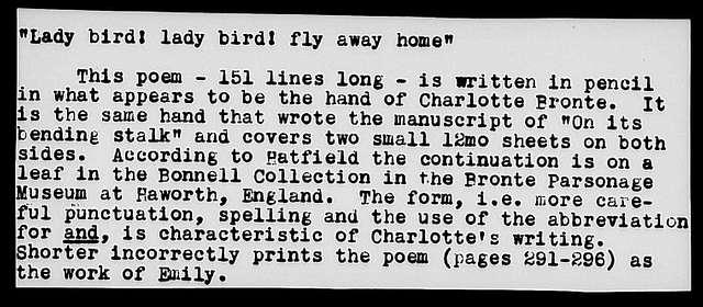 Lady-bird! Lady-bird! Fly away home