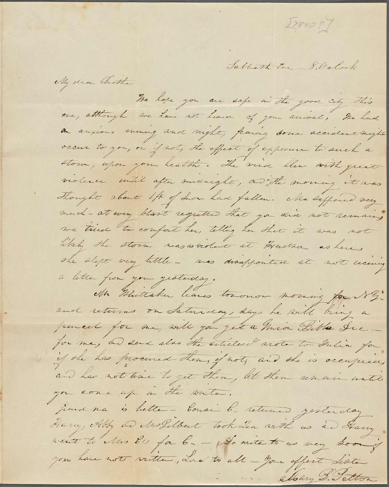 Pelton, Mary B. (Tilden), 1832 - 1850, 1884