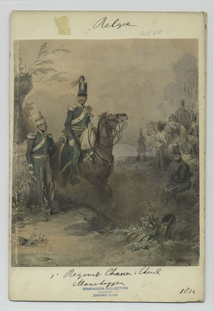 1' Regiment Chasseur  à Cheval Maneuver.