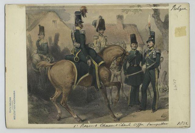 1' Regiment Chasseur à Cheval Officer Trompette.