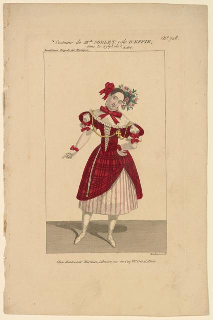 Costume de Melle Noblet, rôle d'Effie, dans La sylphide. Ballet. Academie Royale de Musique: Maleuvre s