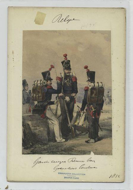 Garde civique Premier ban Grenadier Tambour.