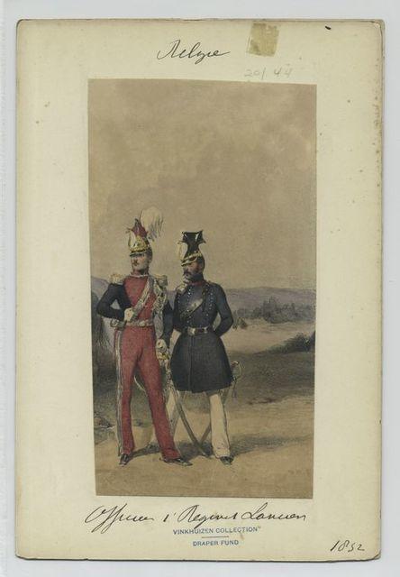 Officier, 1' Regiment Lanciers.