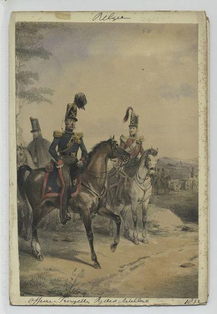 Officier, Trompette, Field Artillerie.