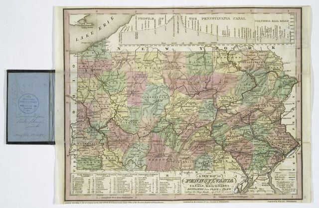 A new map of Pennsylvania : with its canals, rail-roads & distances from place to place along the stage roads