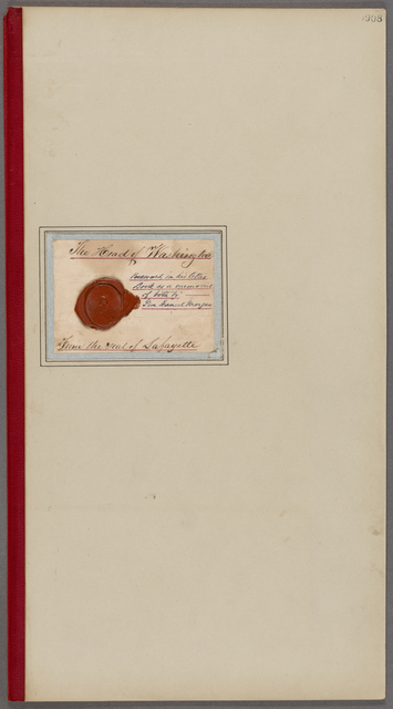 Head of Washington. From the seal of Lafayette