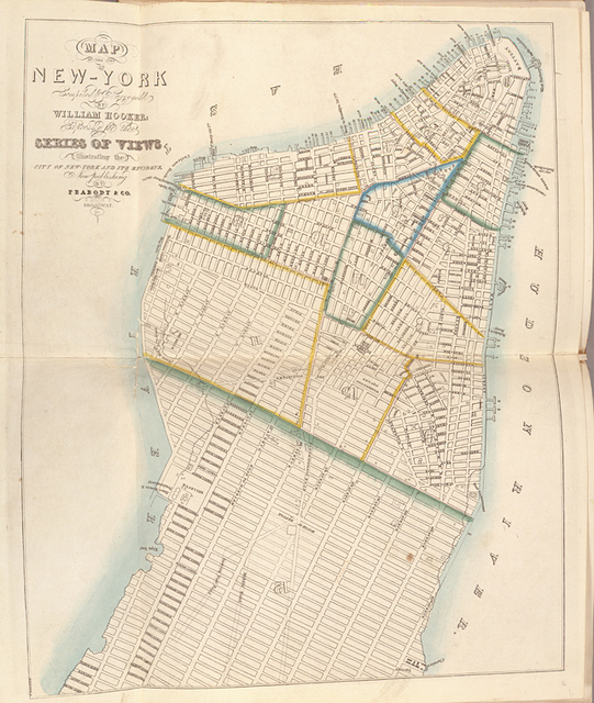 Map of the city of New York.