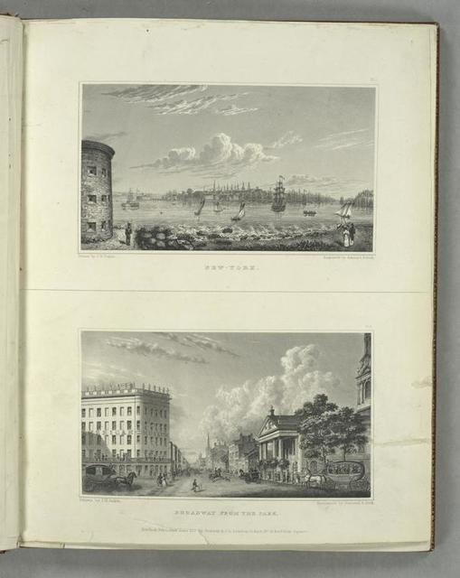 Pl. 1. New-York ; Pl. 2. Broadway from the park.