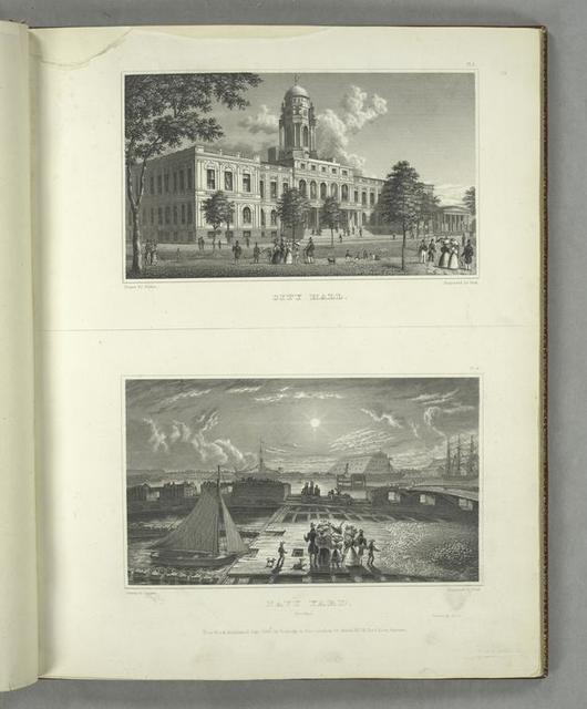 Pl. 5. City Hall ; Pl. 6. Navy Yard, Brooklyn.