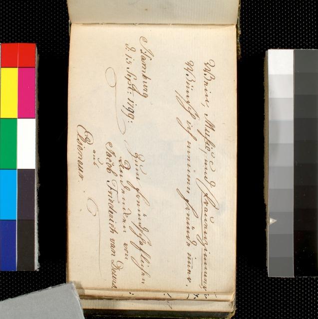 Signed by Jacob Friederich van Deurs and Elseneur (?), Hamburg, 15 Sept. 1799.