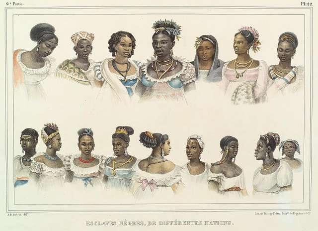 Esclaves nègres, de différentes nations.