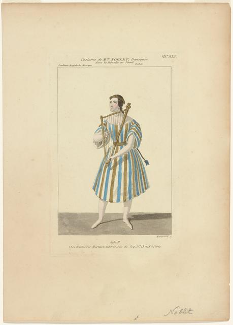 Costume de Melle Noblet, danseuse, dans La révolte au sérail, ballet, act II, Académie royale de musique