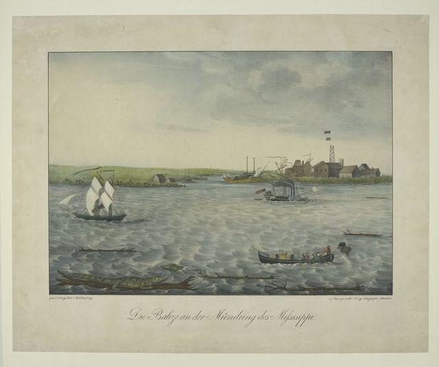 Die Balize an der Mündung des Missisippi.