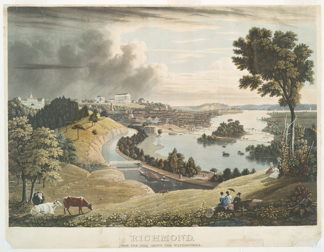 Richmond, from the hill above the waterworks.